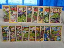 Hulk Comic LOT 17 Issues! Dave Gibbons, Steve Dillon 1979 Marvel UK (m 1080)