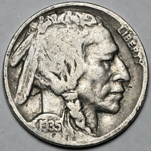 1935 UNITED STATES COPPER NICKEL INDIAN HEAD BUFFALO NICKEL 5 FIVE CENT COIN
