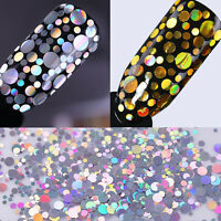 2Boxes BORN PRETTY Holographic Nail Sequins Flakes Holo Laser Glitter Paillette
