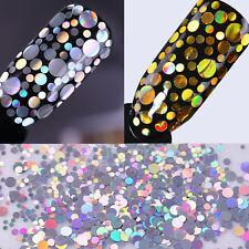 2Boxes BORN PRETTY Holographic Nail Flakes Holo Laser Sequins Glitter Paillette