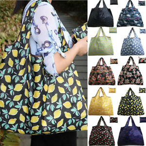 Women Foldable Large Capacity Eco Tote Handbag Shopping Bag Reusable Travel