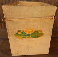 Wood Glass TERRARIUM Aquarium ? Handmade Frog Lily Pad Re purpose Rare Vintage