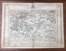 CARTE TOPOGRAPHIQUE DU DIOCESE DE SENLIS CHANTILLY ERMENONVILLE 1709