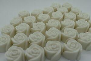 Mini Rose Soap IVORY - Caramel Latte Fragrance Wedding Favours Guest Gifts Decor