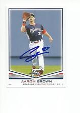 AARON BROWN Autographed Signed 2017 card Reading Fightins Phillies COA