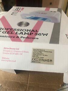 Mylee Professional UV Gel Nail Lamp 36W With Soak Off Base Gel, Top Coat, Etc