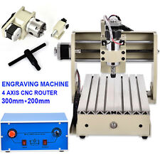 CNC Router Engraver 3D Milling Machine Table Engraving Drilling 4AXIS 3020 MACH3