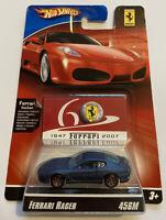 2007 Hotwheels Ferrari Racer 456 M V12 Blue 3/24 60th Anniversary MOC!