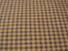 "3 yds  48""  Dark Navy Blue and Tan mini check homespun Primitive Fabric--------*"