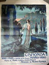Original Vintage Gismonda Opera Poster