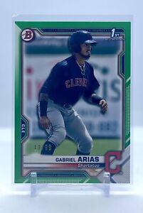 2021 Bowman Gabriel Arias - Bowman 1st - Green  #/99 - Indians