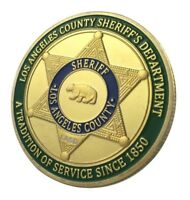 U.S. United States   Los Angeles County Sheriff's Department   Gold Plated Coin