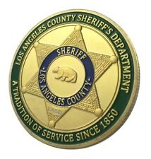 U.S. United States | Los Angeles County Sheriff's Department | Gold Plated Coin