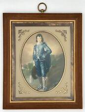 Turner Fashion Plate Wall Art Accessories Blue Boy Litho 3D Style Glass Frame