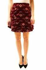 Free People Women's Roll With Us Corduroy Skirt Wine Size UK 8 RRP £62 BCF611