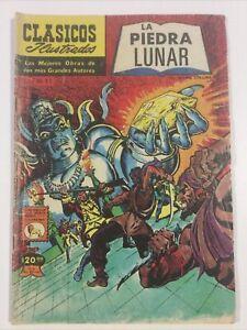 1981 SPANISH COMICS CLASICOS ILUSTRADOS M11 LA PIEDRA LUNAR LA PRENSA MEXICO