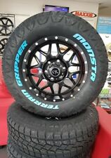 OX 4X4 WHEELS 17X8.5 WITH MONSTA TYRES 265/70R17 AT