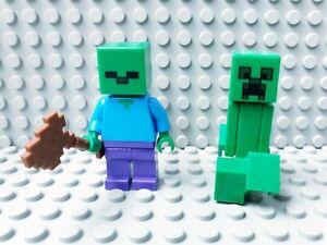 LEGO Minecraft Zombie mit Axt Figur Minifig
