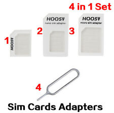 USA! Genuine NOOSY SIM Card Adapter 4-in-1 Nano to Micro Standard Converter