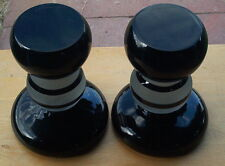 Two Beautiful Candle Holders - Signed by Mystery Artist - Art Glass