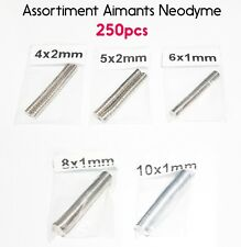 Assortiment 250pcs Aimant Neodyme Rond Puissant Neodymium NdFeB Magnet Lot Pack