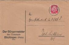 BÖCHINGEN, Briefumschlag 1936, Der Bürgermeister