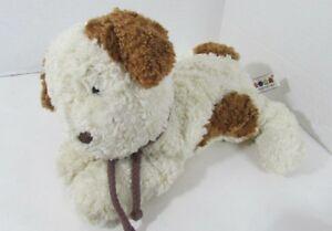 A&A Aurora cream brown spot tail ears rope collar plush stuffed animal textured