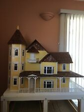 Dura Craft Victorian Mansion Assembled Wood Dollhouse VM800 Ready To Decorate