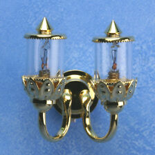 Dollhouse Miniatures 1:12 Scale Double Ornate Coach Wall Lamp 12V #MH45128