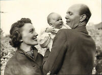 original old black and white photo of david nixon & family