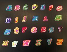 Sew on & iron on embroidery patches(colorful alphabet letter)