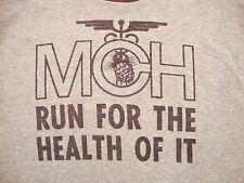 Vintage MCH Run The Health of It Running Marathon Maternal Child T Shirt S