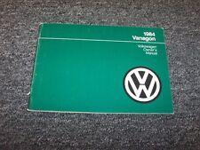 1984 Volkswagen Vanagon Camper Van Owner Owner's Operator Guide Manual L GL 1.9L