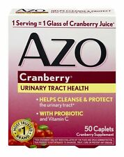 Azo Cranberry Urinary Tract Health Supplement Caplets with Probiotic 50 Count