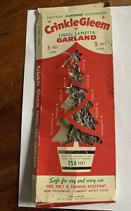 Vintage CRINKLE GLEEM Christmas Tree Tinsel from The 1950's or 60's Original