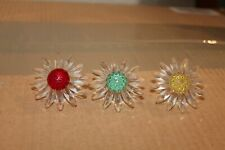 Swarovski SCS Renewal Gift Daisy - Green/Yellow/Red & Miniatures(never opened)
