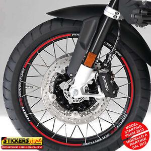 Adesivi cerchi moto BMW R1200GS ADVENTURE versione dal 2013 wheel stickers MOD#4