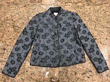 Armani Gray Flower Blazer/Jacket
