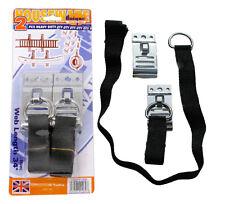2pz 100 libbre Heavy Duty cinturini regolabili muro stoccaggio Ganci scale MOTO PNEUMATICI