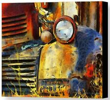 Headlight On A Retired Relic Barbara Snyder Abandoned Truck Canvas Giclee 16x20