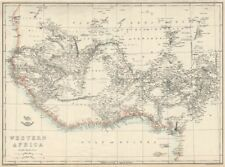 Pré coloniale afrique occidentale. montre montagnes de kong. tribus. weller 1863 carte