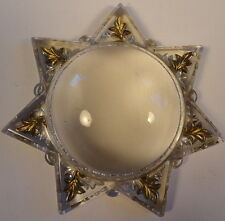 Victorian 7 Point Star Domed Goofus Glass Magnifier Paperweight