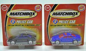 Matchbox Burger King Police Cars 2004
