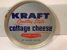 VINTAGE KRAFT COUNTRY STYLE CREAMED COTTAGE CHEESE SMALL CURD TIN LID COASTER