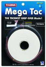 Tourna Mega Tac Extra Tacky Overgrip, White, 10-Pack