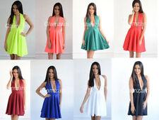 Halter Neck Mini Dresses Backless