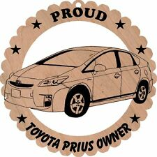 Toyota Prius Wood Ornament Large 5 3/4 Inches Round