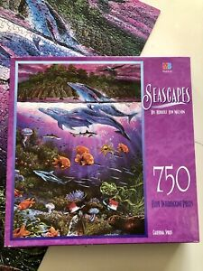 MB SEASCAPES ~ DOLPHINS 0 California Spirits 750  Piece Jigsaw Puzzle