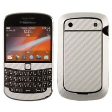 Skinomi Carbon Fiber Silver Skin Cover+Screen Protector for BlackBerry Bold 9900