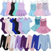 Kids Girls Gymnastics Ballet Dance Tutu Dress Leotard Outfits Fancy Costume
